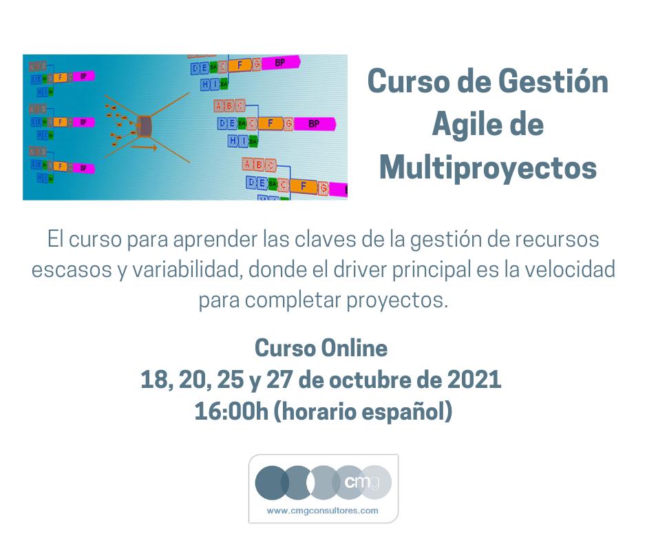 Curso gestión agile multiproyectos octubre 2021